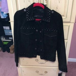 Bagatelle leather and suede jacket